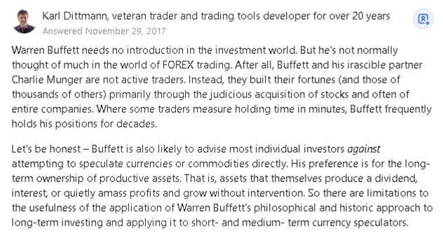 does warren buffett trade forex and what will be buffett s forex strategies 14 - Does Warren Buffett trade Forex? And what will be Buffett's forex strategies?